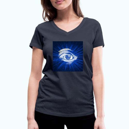 eye - Women's Organic V-Neck T-Shirt by Stanley & Stella