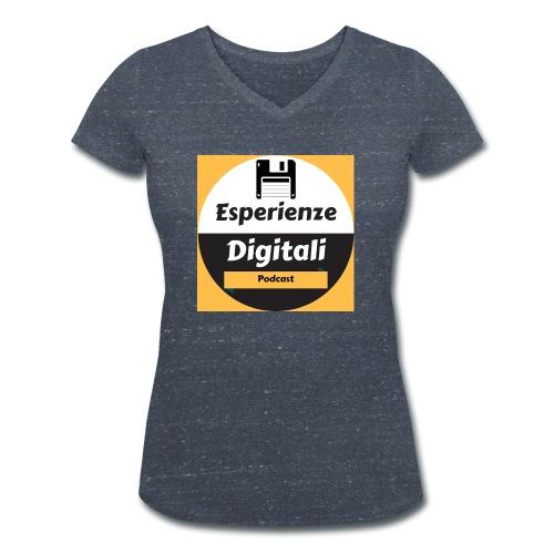 Logo Esperienze Digitali - T-shirt ecologica da donna con scollo a V di Stanley & Stella
