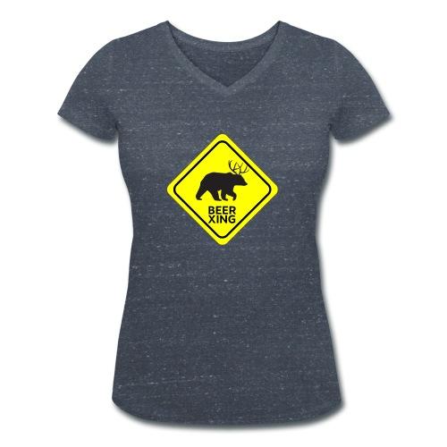 Macs Bear - T-shirt ecologica da donna con scollo a V di Stanley & Stella