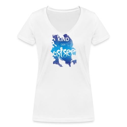Kind der Ostsee - Frauen Bio-T-Shirt mit V-Ausschnitt von Stanley & Stella