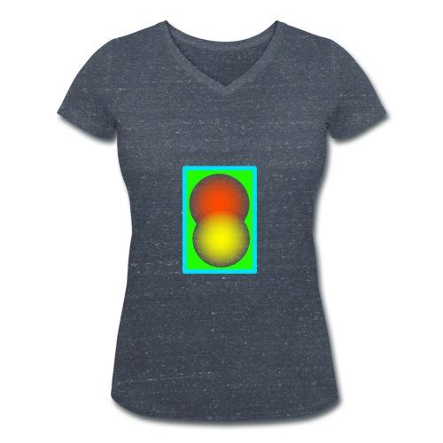 Abstrakte Malerei - Frauen Bio-T-Shirt mit V-Ausschnitt von Stanley & Stella