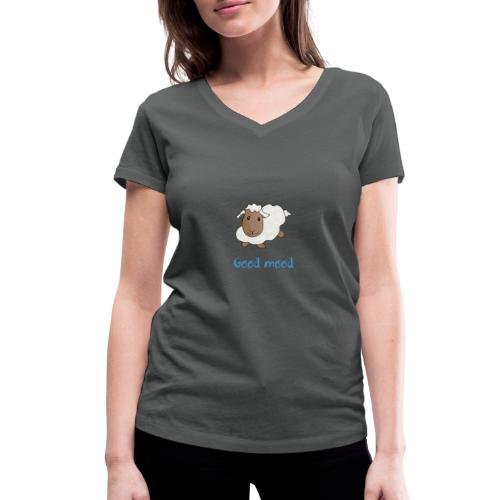 Nadège le petit mouton blanc - T-shirt bio col V Stanley & Stella Femme