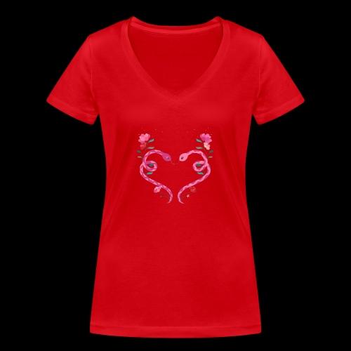 Coeur de serpents - T-shirt bio col V Stanley & Stella Femme