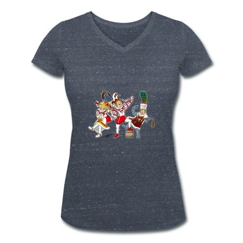 Köln Dreigestirn - Frauen Bio-T-Shirt mit V-Ausschnitt von Stanley & Stella