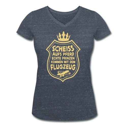 Scheiss aufs Pferd - Frauen Bio-T-Shirt mit V-Ausschnitt von Stanley & Stella