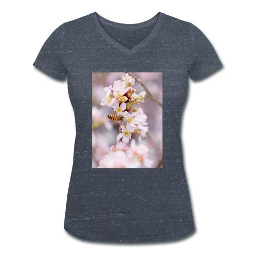 Schöne Biene 1 - Frauen Bio-T-Shirt mit V-Ausschnitt von Stanley & Stella
