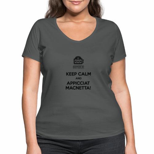 KEEP SPIKE Nero - T-shirt ecologica da donna con scollo a V di Stanley & Stella