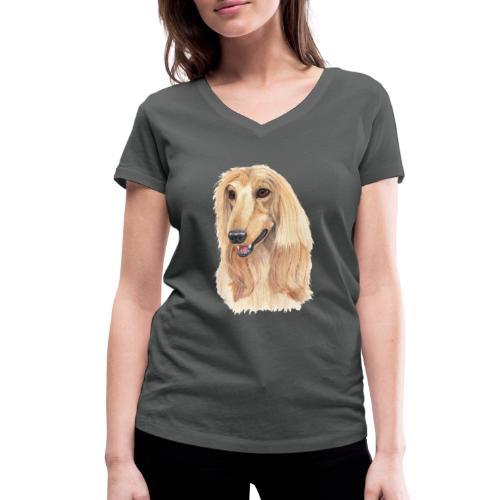 afghanskMynde- A - Økologisk Stanley & Stella T-shirt med V-udskæring til damer