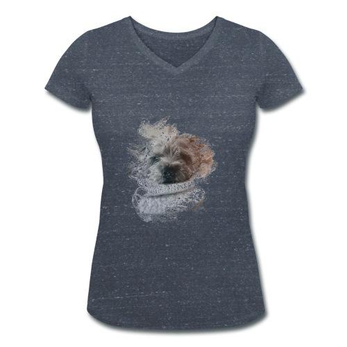 chien - T-shirt bio col V Stanley & Stella Femme