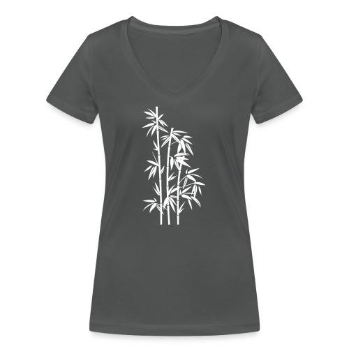 Bianco Dafne 01 - T-shirt ecologica da donna con scollo a V di Stanley & Stella