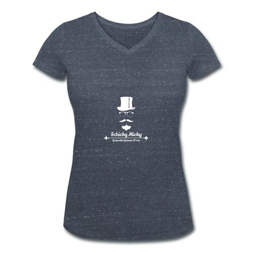 Schicky Micky Grosser K Weiss - Frauen Bio-T-Shirt mit V-Ausschnitt von Stanley & Stella