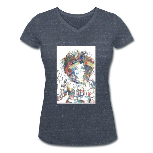 Live and let live, Geschenkidee - Frauen Bio-T-Shirt mit V-Ausschnitt von Stanley & Stella