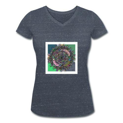 WorldAround 150220 ds. A + - Women's Organic V-Neck T-Shirt by Stanley & Stella