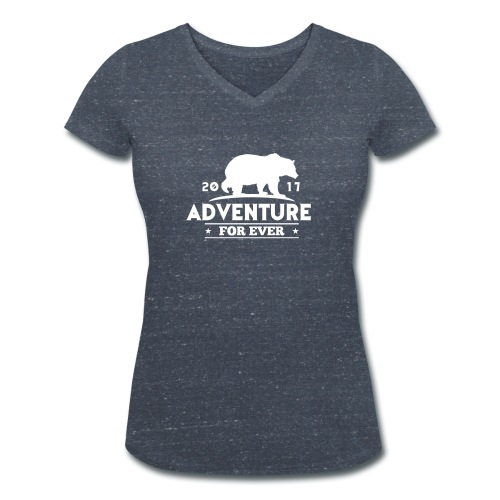 ADVENTURE FOR EVER - GRIZZLY - T-shirt ecologica da donna con scollo a V di Stanley & Stella