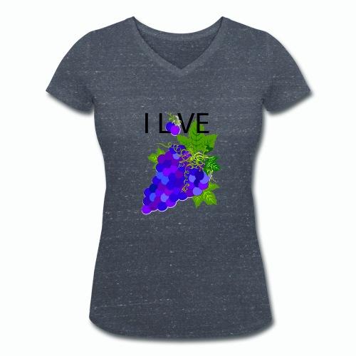 Blue Grape Love - Frauen Bio-T-Shirt mit V-Ausschnitt von Stanley & Stella