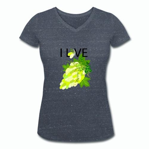 White Grape Love - Frauen Bio-T-Shirt mit V-Ausschnitt von Stanley & Stella