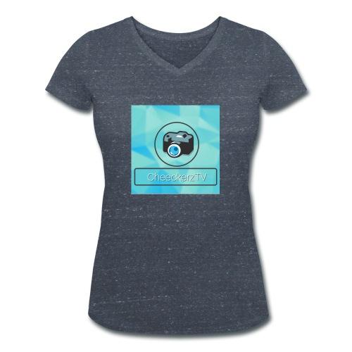 My Logo! - Frauen Bio-T-Shirt mit V-Ausschnitt von Stanley & Stella