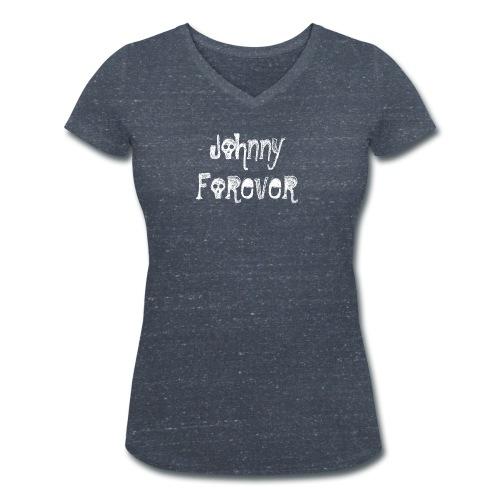 Forever White png - T-shirt bio col V Stanley & Stella Femme