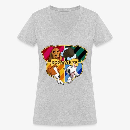 Dogwarts Logo - Women's Organic V-Neck T-Shirt by Stanley & Stella