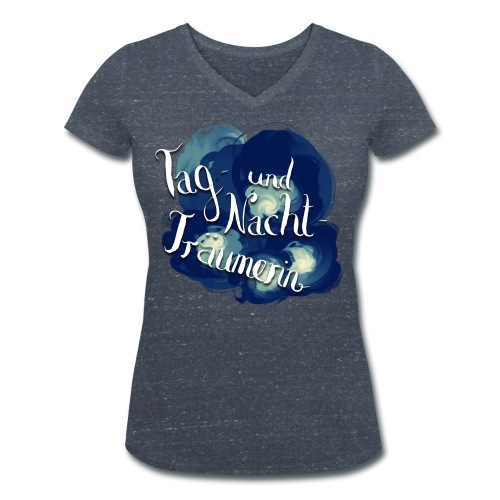 Tag- und Nachtträumerin - Frauen Bio-T-Shirt mit V-Ausschnitt von Stanley & Stella