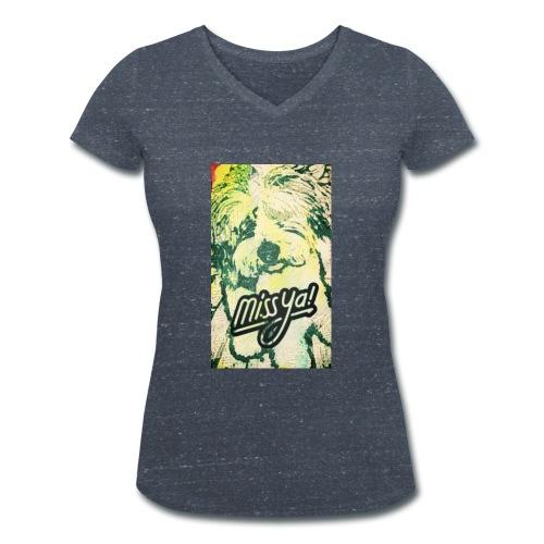 Musste, süsser Hund - Frauen Bio-T-Shirt mit V-Ausschnitt von Stanley & Stella