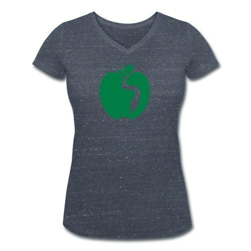 Il Serpente e la Mela - T-shirt ecologica da donna con scollo a V di Stanley & Stella