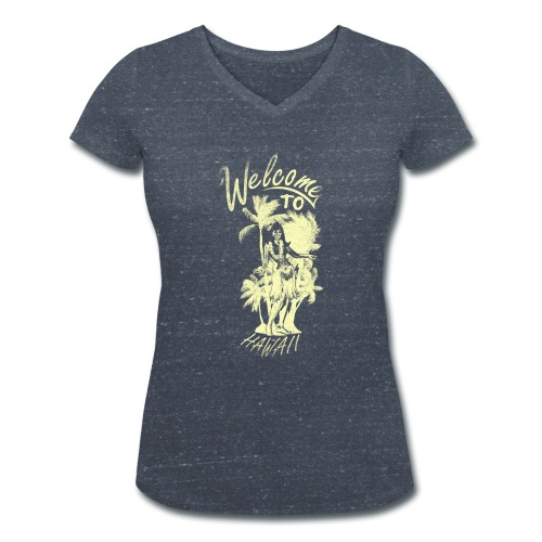 Welcome to Hawaii - Frauen Bio-T-Shirt mit V-Ausschnitt von Stanley & Stella