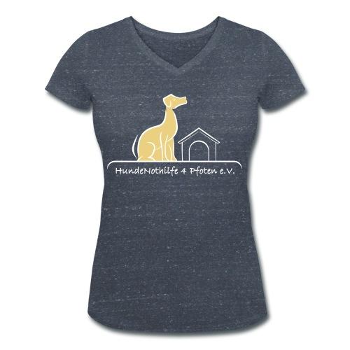 HundeNothilfe Logo - Frauen Bio-T-Shirt mit V-Ausschnitt von Stanley & Stella