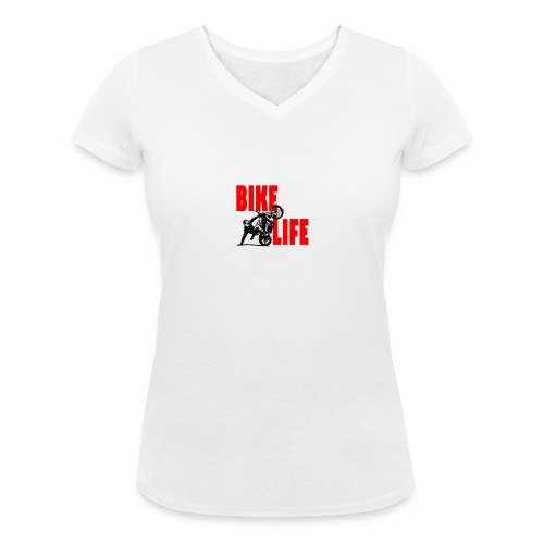 KEEP IT BIKELIFE - Women's Organic V-Neck T-Shirt by Stanley & Stella