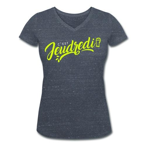 jeudredi - T-shirt bio col V Stanley & Stella Femme