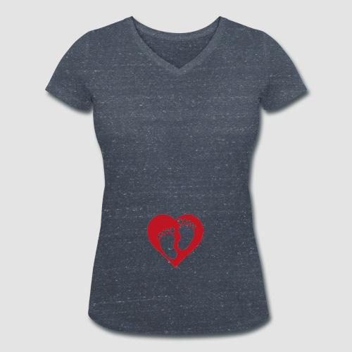 Bebis på väg - Ekologisk T-shirt med V-ringning dam från Stanley & Stella