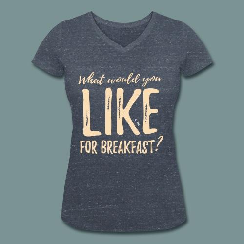 Breakfast by pEMIEL - Vrouwen bio T-shirt met V-hals van Stanley & Stella