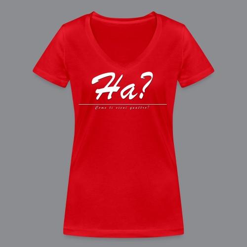 Ha? Come ti vieni quattro? - Frauen Bio-T-Shirt mit V-Ausschnitt von Stanley & Stella