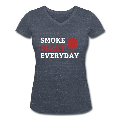 smoke meat everyday shirt - Frauen Bio-T-Shirt mit V-Ausschnitt von Stanley & Stella