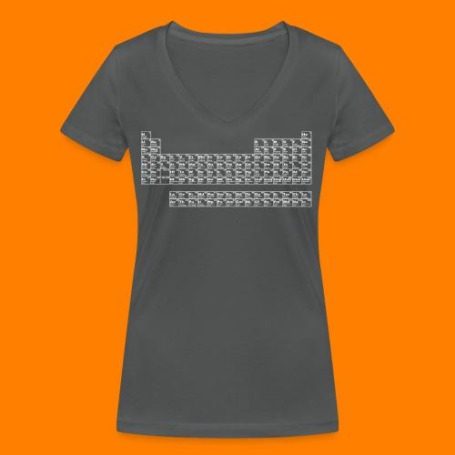periodic white - Women's Organic V-Neck T-Shirt by Stanley & Stella