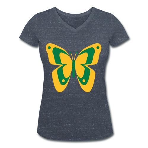 Schmetterling Falter Insekten Frühling Sommer - Women's Organic V-Neck T-Shirt by Stanley & Stella