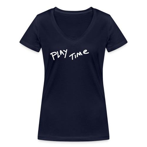 Play Time Tshirt - Women's Organic V-Neck T-Shirt by Stanley & Stella