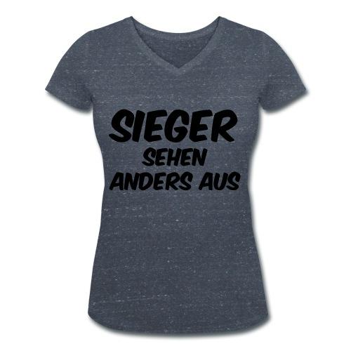 Sieger sehen anders aus - Frauen Bio-T-Shirt mit V-Ausschnitt von Stanley & Stella