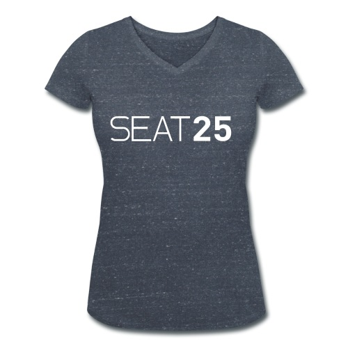 Seat25 Logo Light - Women's Organic V-Neck T-Shirt by Stanley & Stella