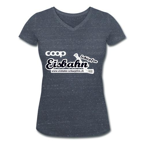 Coop-Eisbahn Schüpfen invertiert - Frauen Bio-T-Shirt mit V-Ausschnitt von Stanley & Stella