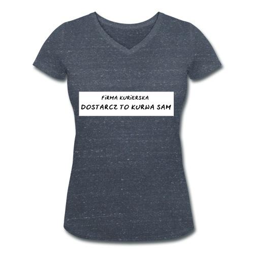 firma kurierska tyl - Ekologiczna koszulka damska z dekoltem w serek Stanley & Stella