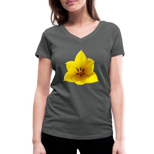 TIAN GREEN Garten - Tulpe 2020 02 - Frauen Bio-T-Shirt mit V-Ausschnitt von Stanley & Stella