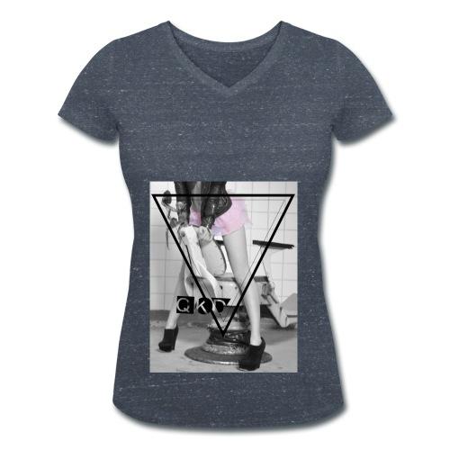 Pinker Tütü jpg - Frauen Bio-T-Shirt mit V-Ausschnitt von Stanley & Stella