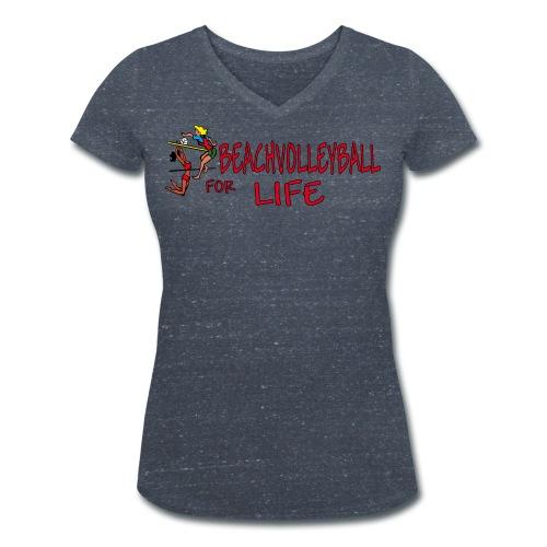 beachvolleyball for life png - Frauen Bio-T-Shirt mit V-Ausschnitt von Stanley & Stella