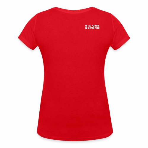 SIX ONE SEVEN 1 PROJECT LOGO FULL 1 WHITE - Women's Organic V-Neck T-Shirt by Stanley & Stella
