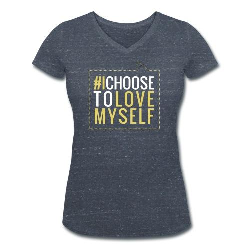 #ictlm 01 weiß - Frauen Bio-T-Shirt mit V-Ausschnitt von Stanley & Stella