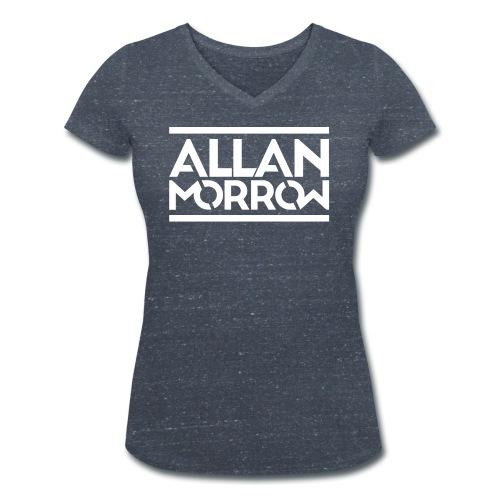 Allan Morrow logo - Women's Organic V-Neck T-Shirt by Stanley & Stella