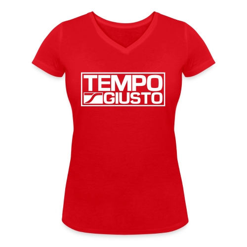 Tempo Giusto Rectangle - Women's Organic V-Neck T-Shirt by Stanley & Stella