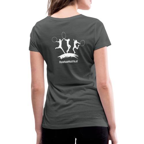 Hula Hoop Jumping Shadow White - Frauen Bio-T-Shirt mit V-Ausschnitt von Stanley & Stella