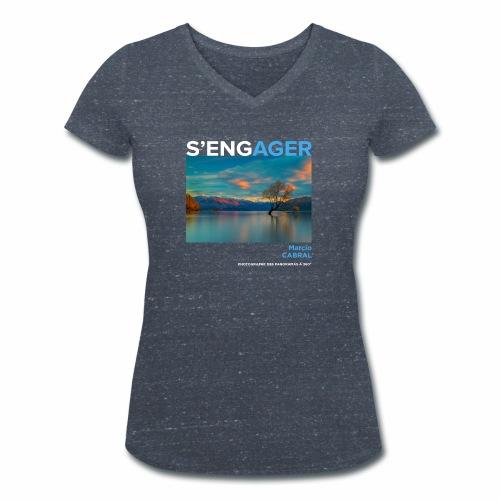 1 Achat = 1 Don à la Fondation Nicolas Hulot - T-shirt bio col V Stanley & Stella Femme